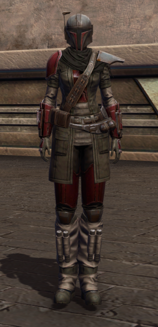 Infamous Bounty Hunter Armor Set Outfit from Star Wars: The Old Republic.