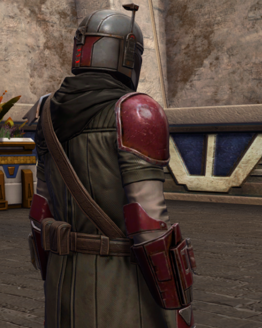 Infamous Bounty Hunter Armor Set Back from Star Wars: The Old Republic.