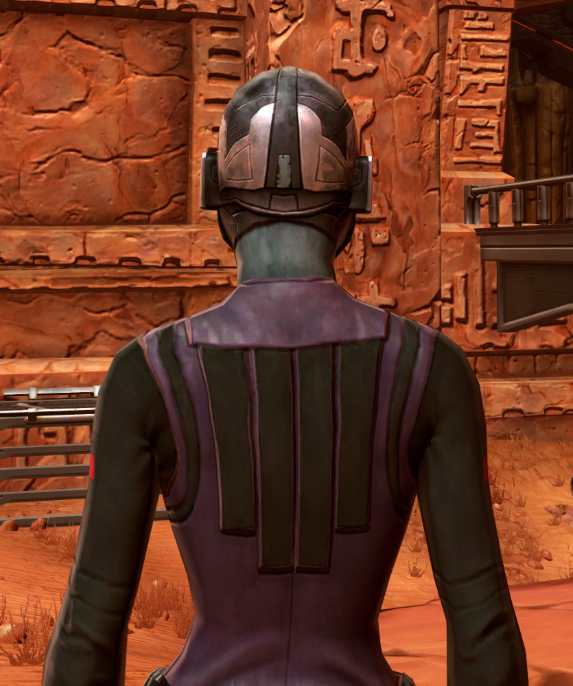 Initiate Armor Set detailed back view from Star Wars: The Old Republic.