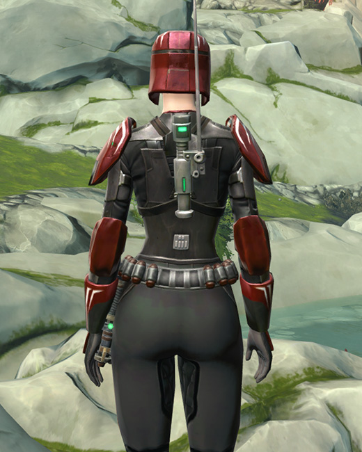 Interceptor Armor Set Back from Star Wars: The Old Republic.