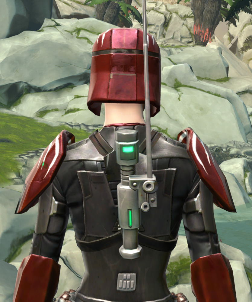 Interceptor Armor Set detailed back view from Star Wars: The Old Republic.