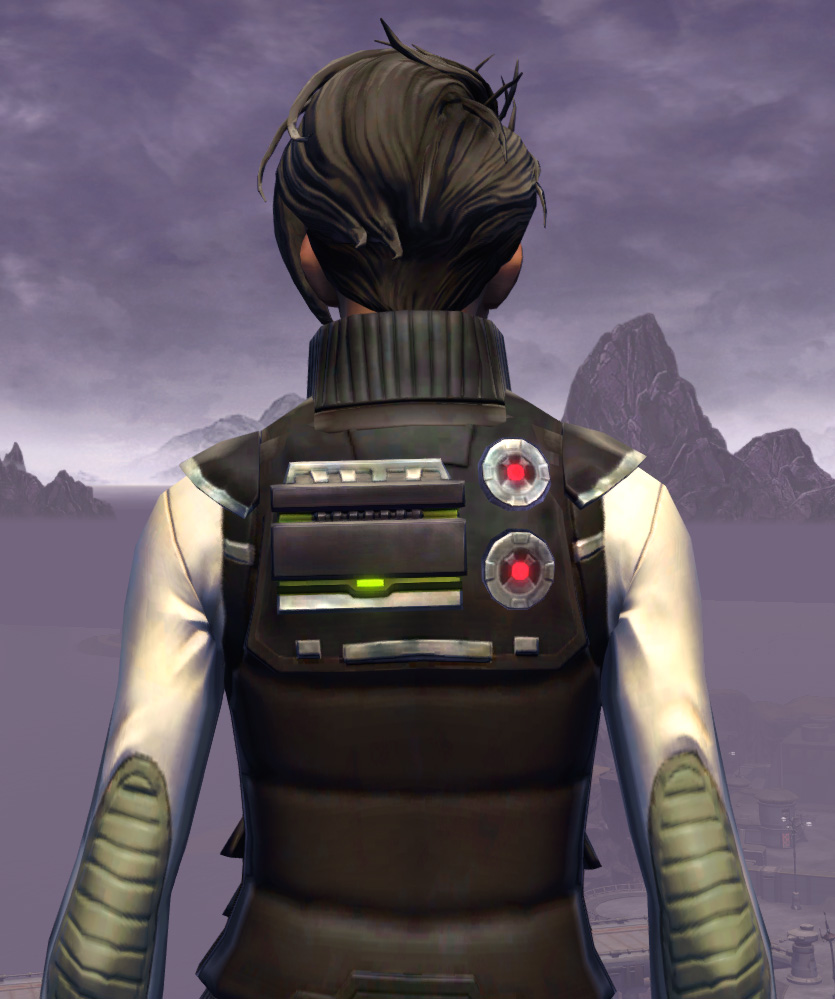 Interstellar Privateer Armor Set detailed back view from Star Wars: The Old Republic.