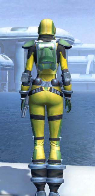 J-34 Biocontainment Armor Set player-view from Star Wars: The Old Republic.