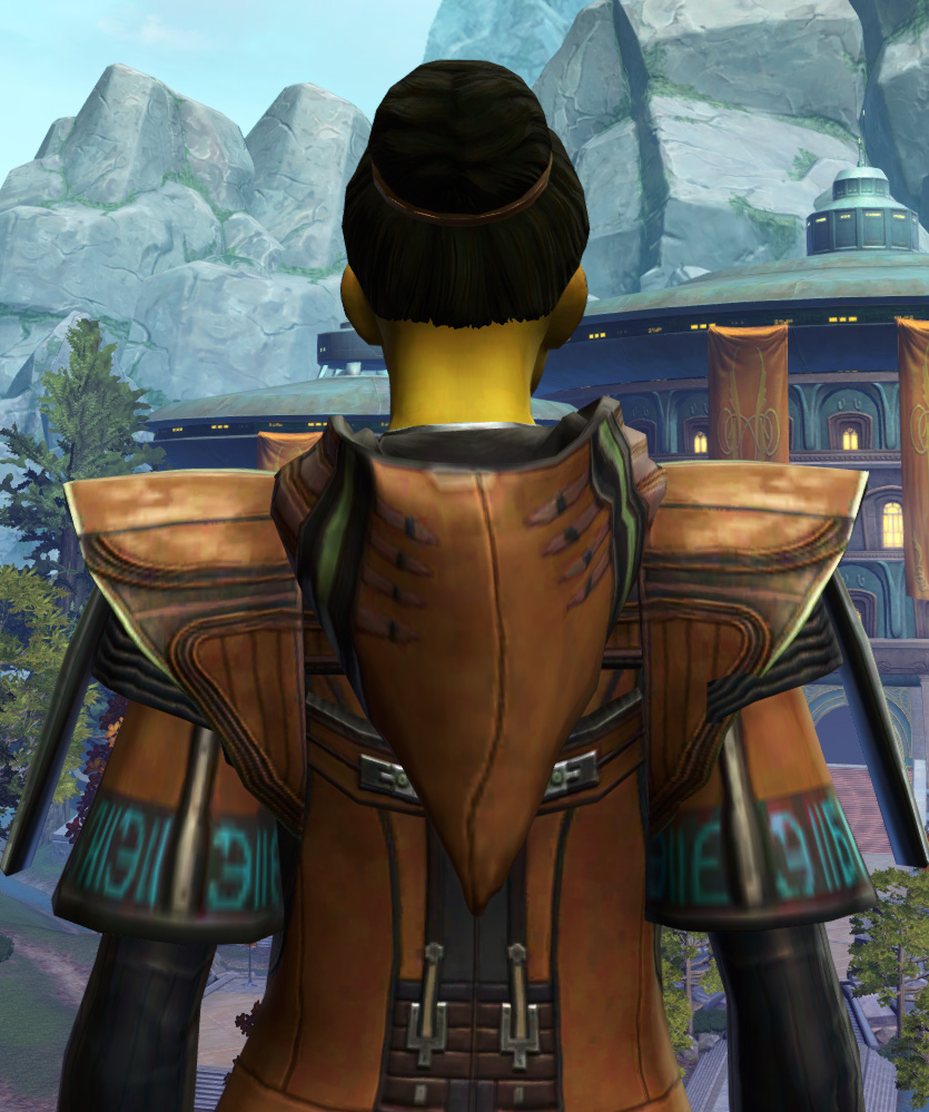 Jedi Initiate Armor Set detailed back view from Star Wars: The Old Republic.