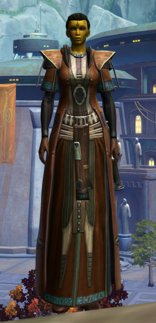 Jedi Initiate Armor Set Outfit from Star Wars: The Old Republic.