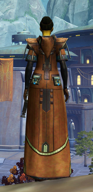 Jedi Initiate Armor Set player-view from Star Wars: The Old Republic.