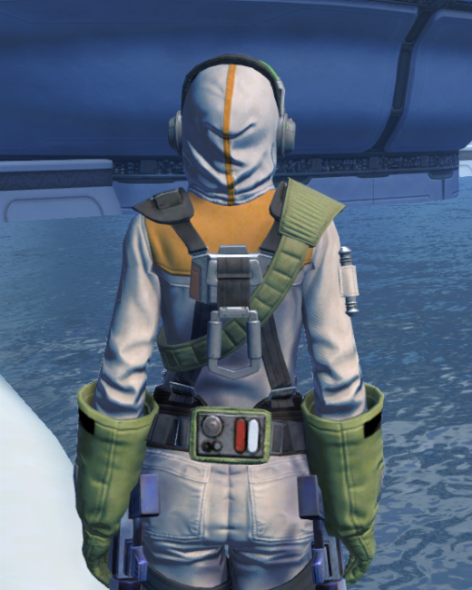 Lab Technician Armor Set Back from Star Wars: The Old Republic.