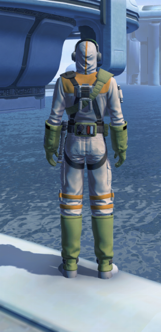 Lab Technician Armor Set player-view from Star Wars: The Old Republic.
