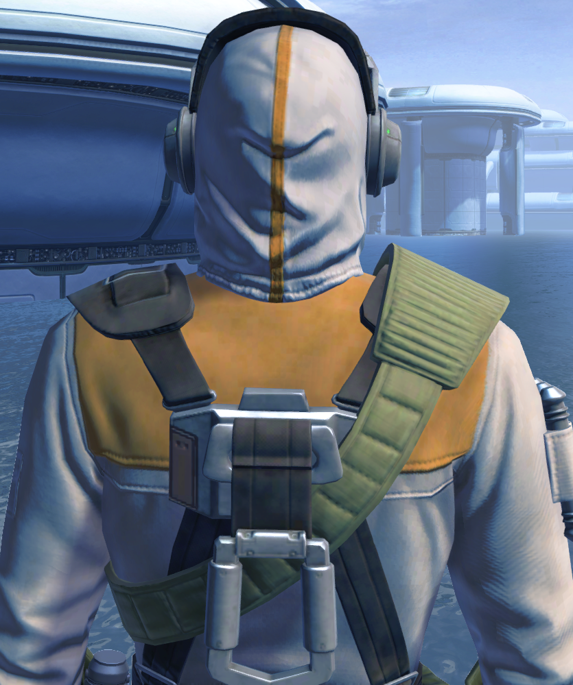 Lab Technician Armor Set detailed back view from Star Wars: The Old Republic.