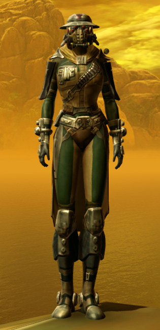 Lacqerous Mesh Armor Set Outfit from Star Wars: The Old Republic.