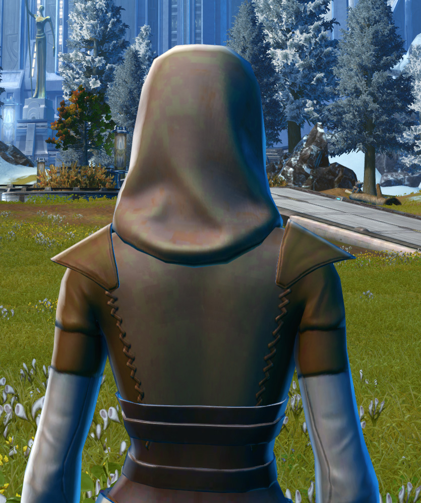 Light Devotee Armor Set detailed back view from Star Wars: The Old Republic.