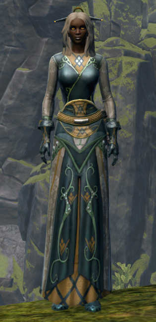 Luxurious Dress Armor Set Outfit from Star Wars: The Old Republic.
