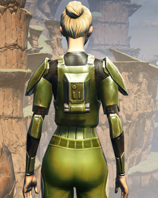 MA-35 Forward Ops Chestplate Armor Set Back from Star Wars: The Old Republic.