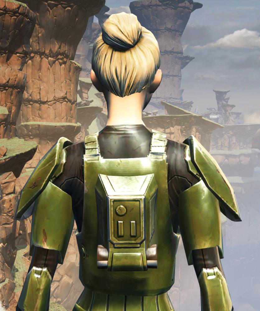 MA-35 Forward Ops Chestplate Armor Set detailed back view from Star Wars: The Old Republic.