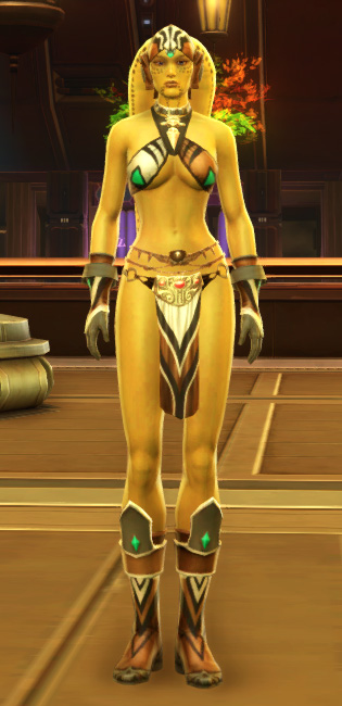 Magnificent Dancer Armor Set Outfit from Star Wars: The Old Republic.