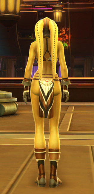 Magnificent Dancer Armor Set player-view from Star Wars: The Old Republic.