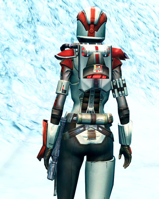 Mandalorian Enforcer Armor Set Back from Star Wars: The Old Republic.