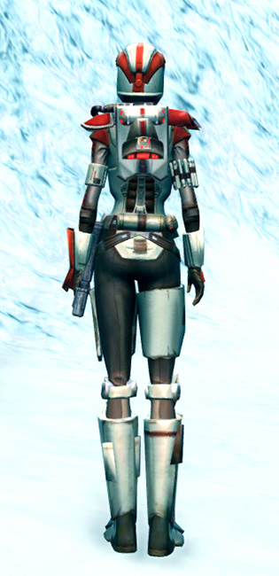 Mandalorian Enforcer Armor Set player-view from Star Wars: The Old Republic.