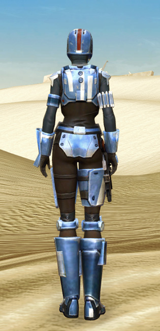 Mandalorian Hunter Armor Set player-view from Star Wars: The Old Republic.