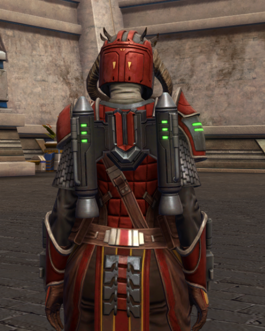 Mandalorian Stormbringer Armor Set Back from Star Wars: The Old Republic.