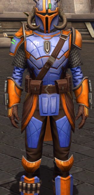 Mandalorian Stormbringer dyed in SWTOR.