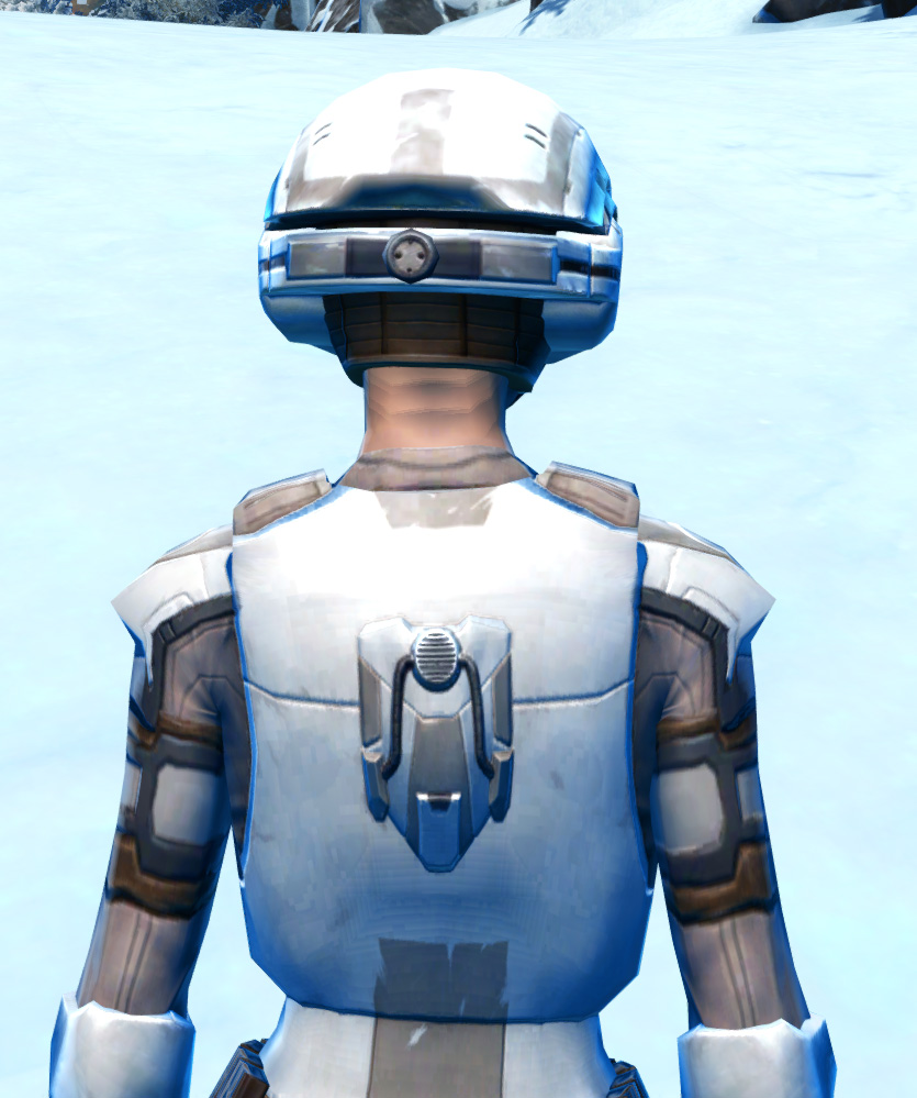 Mullinine Asylum Armor Set detailed back view from Star Wars: The Old Republic.
