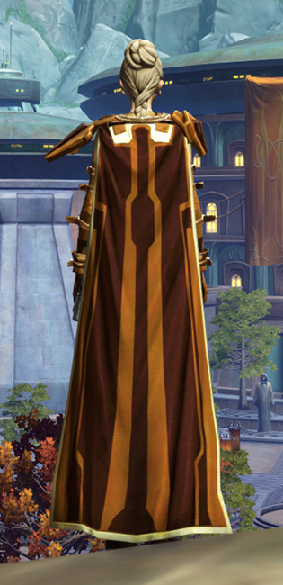 Nanosilk Aegis Armor Set player-view from Star Wars: The Old Republic.