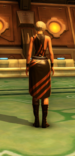 Nightlife Socialite Armor Set player-view from Star Wars: The Old Republic.