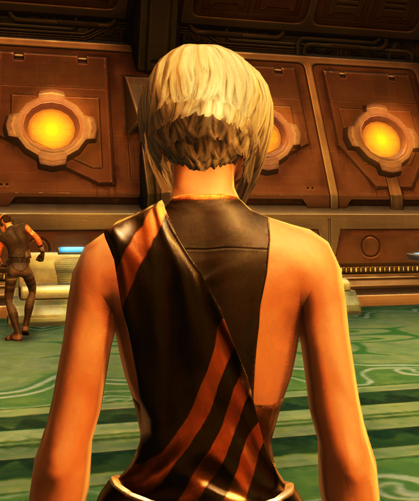 Nightlife Socialite Armor Set detailed back view from Star Wars: The Old Republic.