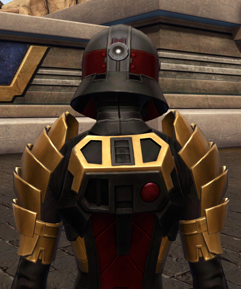Nimble Master Armor Set detailed back view from Star Wars: The Old Republic.