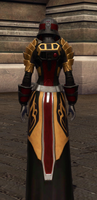 Nimble Master Armor Set player-view from Star Wars: The Old Republic.