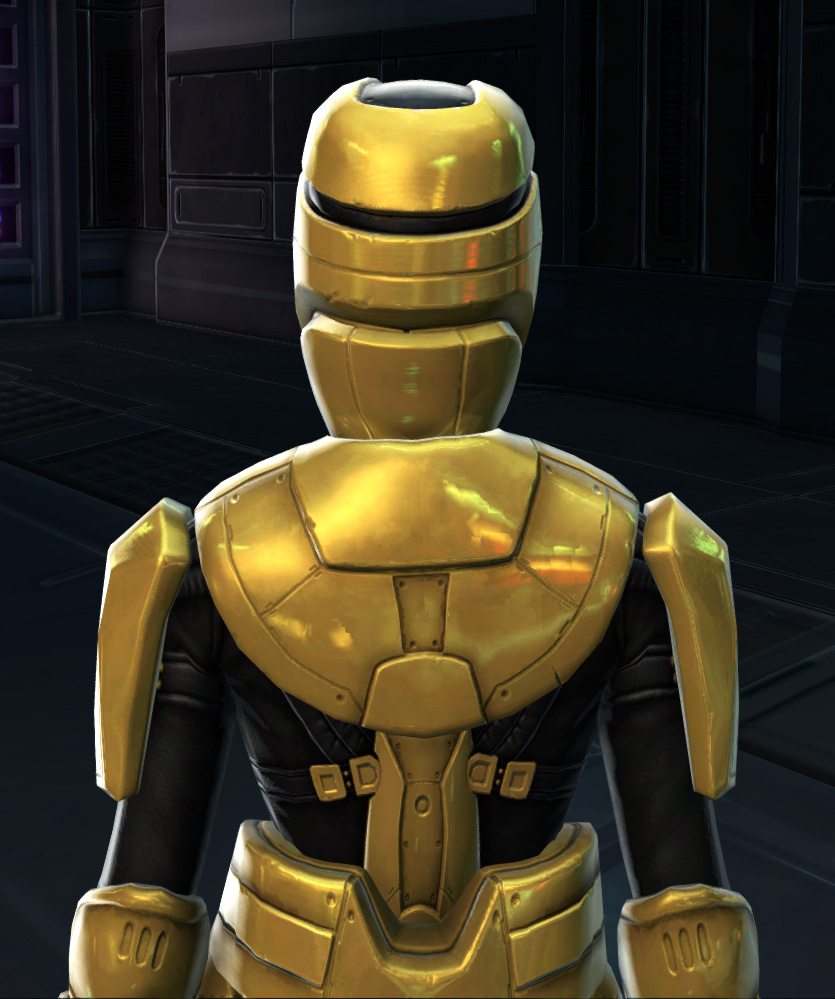 Opulent Triumvirate Armor Set detailed back view from Star Wars: The Old Republic.