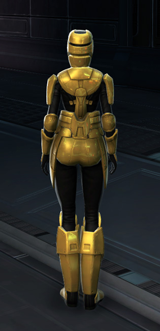 Opulent Triumvirate Armor Set player-view from Star Wars: The Old Republic.