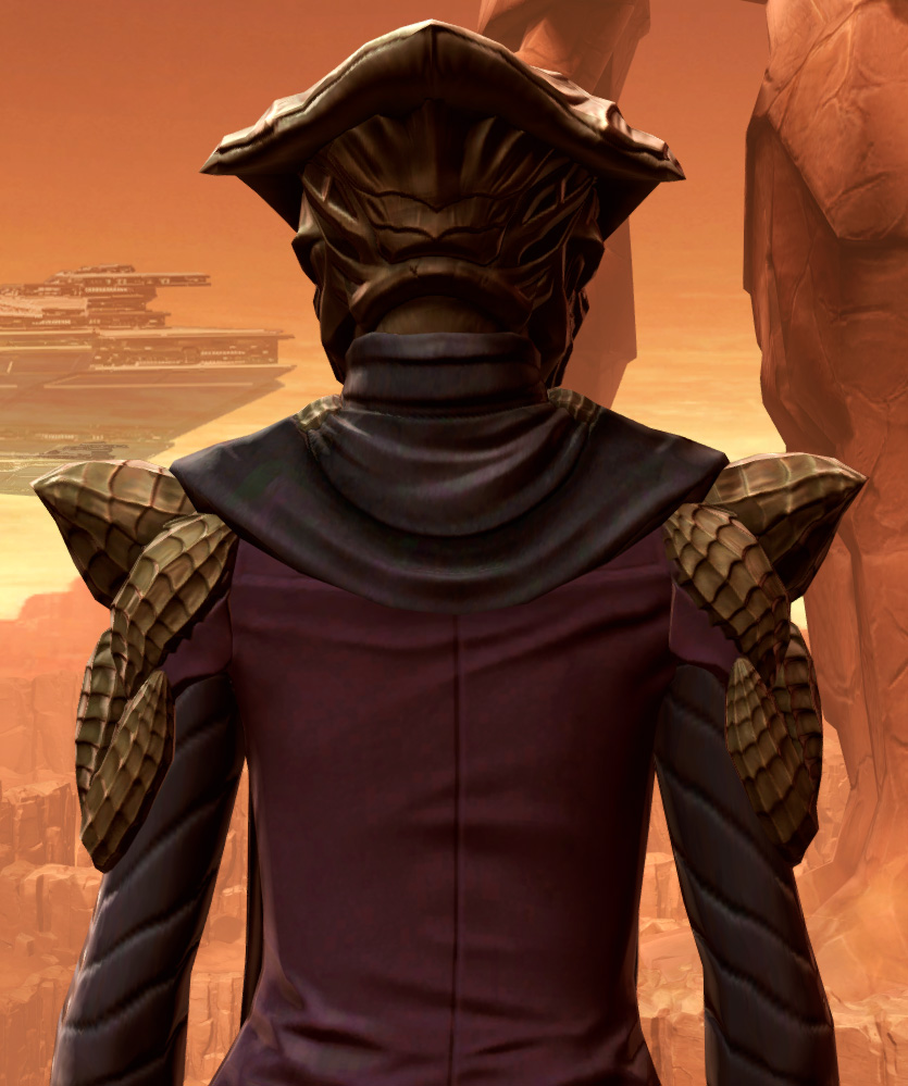 Orbalisk Armor Set detailed back view from Star Wars: The Old Republic.