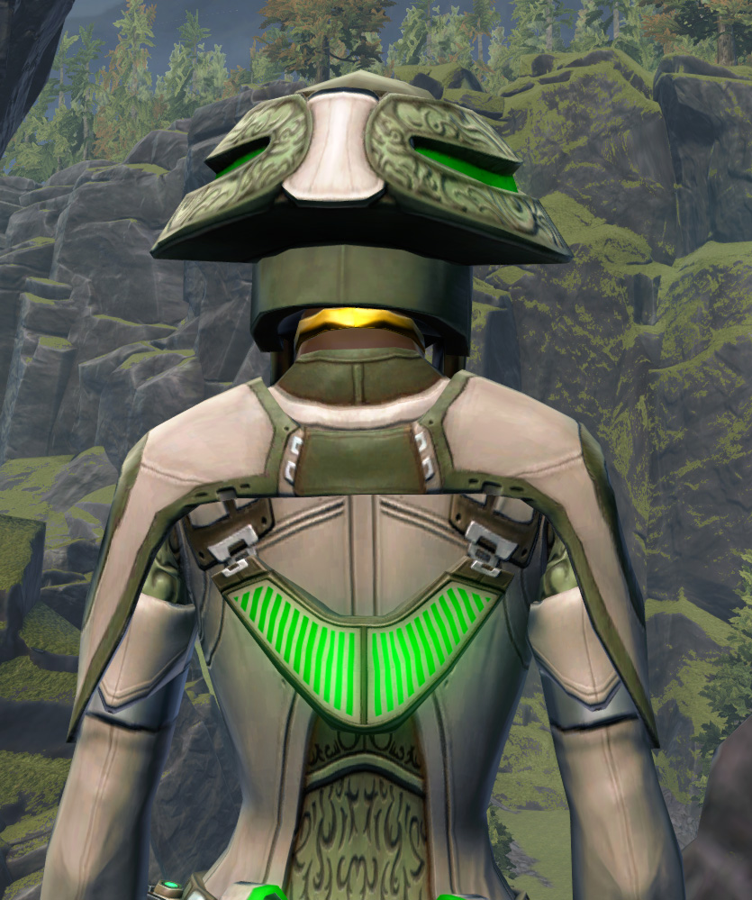 Overloaded Peacemaker Armor Set detailed back view from Star Wars: The Old Republic.