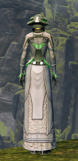 Overloaded Peacemaker Armor Set player-view from Star Wars: The Old Republic.