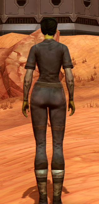 Padded Armor Set player-view from Star Wars: The Old Republic.