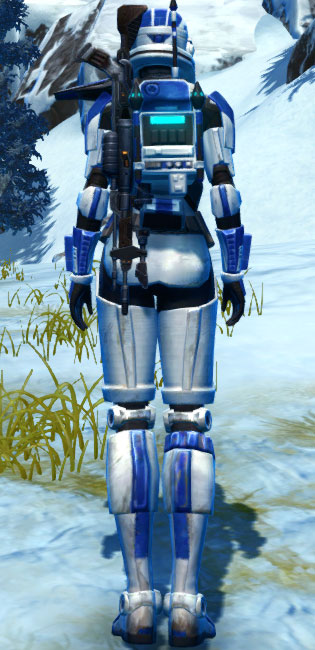 Ciridium Asylum Armor Set player-view from Star Wars: The Old Republic.