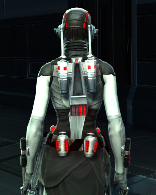 Potent Combatant Armor Set Back from Star Wars: The Old Republic.
