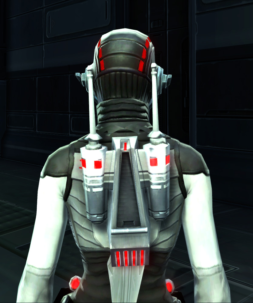 Potent Combatant Armor Set detailed back view from Star Wars: The Old Republic.