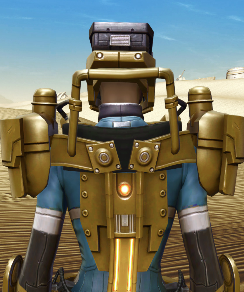 Powered Exoguard Armor Set detailed back view from Star Wars: The Old Republic.
