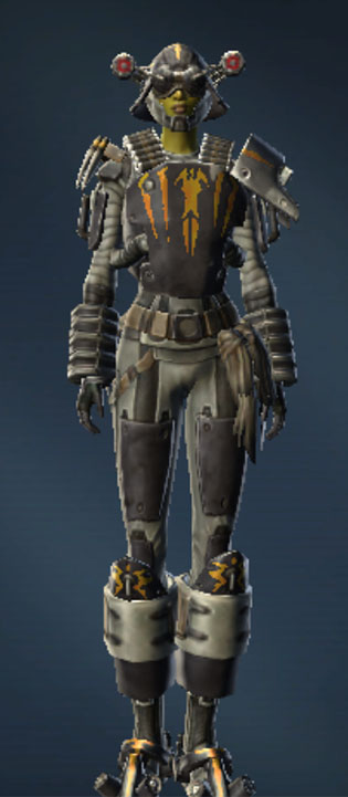 Battlemaster Combat Tech Armor Set Outfit from Star Wars: The Old Republic.