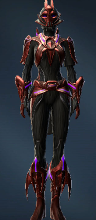 Dread Mystic Armor Set Outfit from Star Wars: The Old Republic.