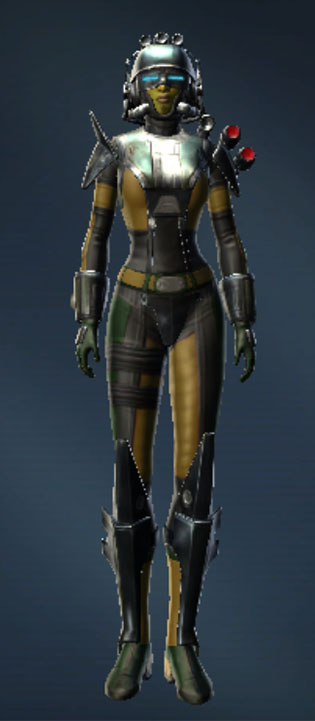 War Hero Field Medic Armor Set Outfit from Star Wars: The Old Republic.