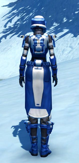 Quadranium Asylum Armor Set player-view from Star Wars: The Old Republic.