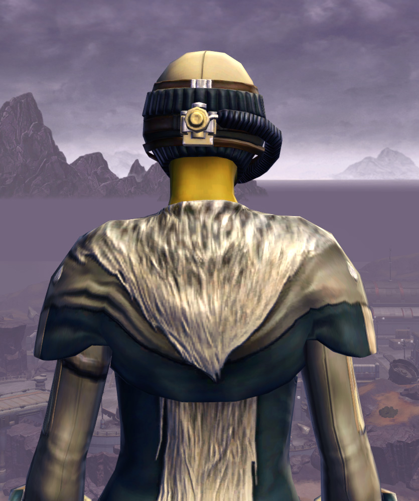 Quadranium Onslaught Armor Set detailed back view from Star Wars: The Old Republic.
