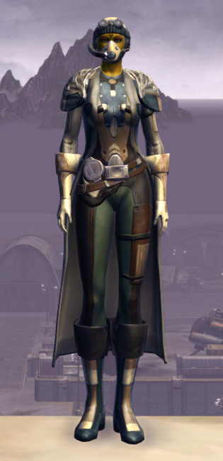 Quadranium Onslaught Armor Set Outfit from Star Wars: The Old Republic.