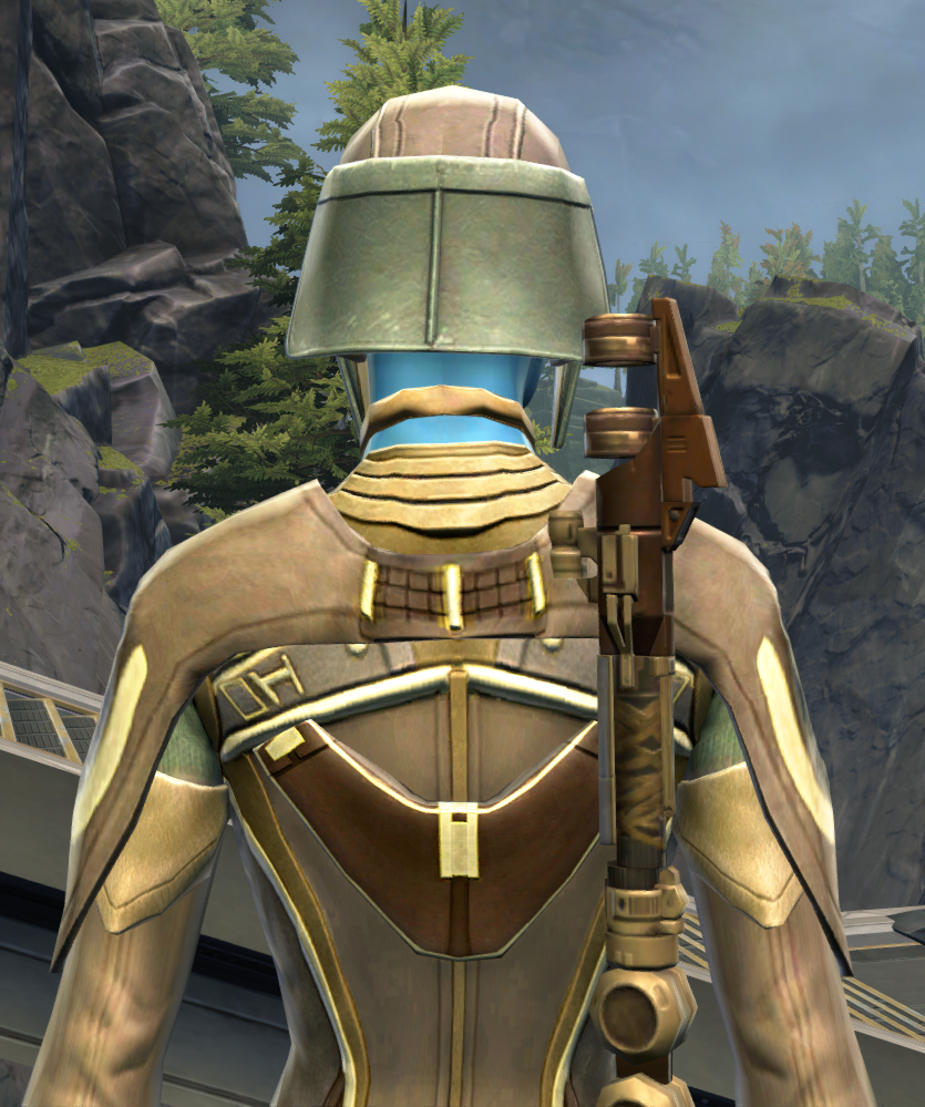Rebuking Assault Armor Set detailed back view from Star Wars: The Old Republic.