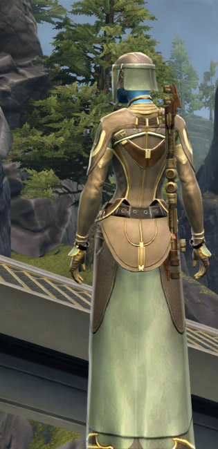 Rebuking Assault Armor Set player-view from Star Wars: The Old Republic.