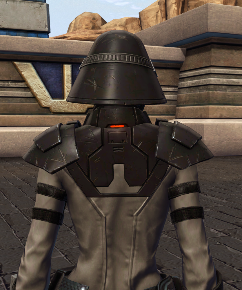 Reconstructed Apprentice Armor Set detailed back view from Star Wars: The Old Republic.
